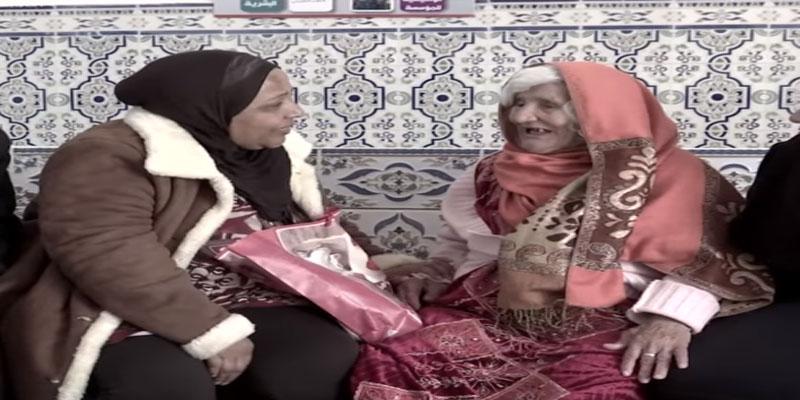 بالفيديو: مواطنة تتعرف على مسنة بدار المسنين بقرمبالية وهكذا كان اللقاء