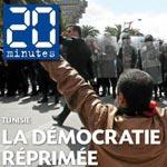 La Tunisie fait la une de 20 minutes d'aujourd'hui mais en mal