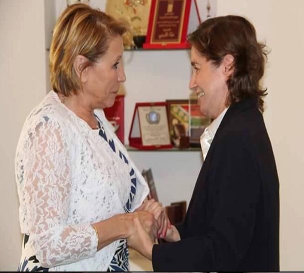 بالصور: وزيرة المرأة تعود المناضلة مية الجريبي