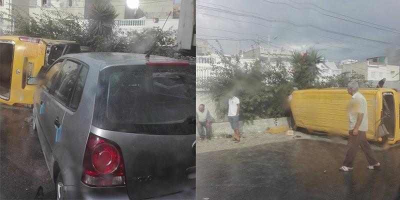بن عروس: تصادم بين ''تاكسي جماعي'' و شاحنة وتعطل حركة المرور
