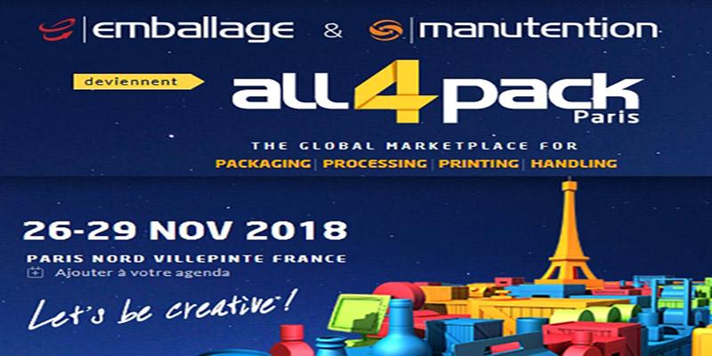 Journée de Présentation du Salon de l'Emballage et de Manutention All4Pack 2018
