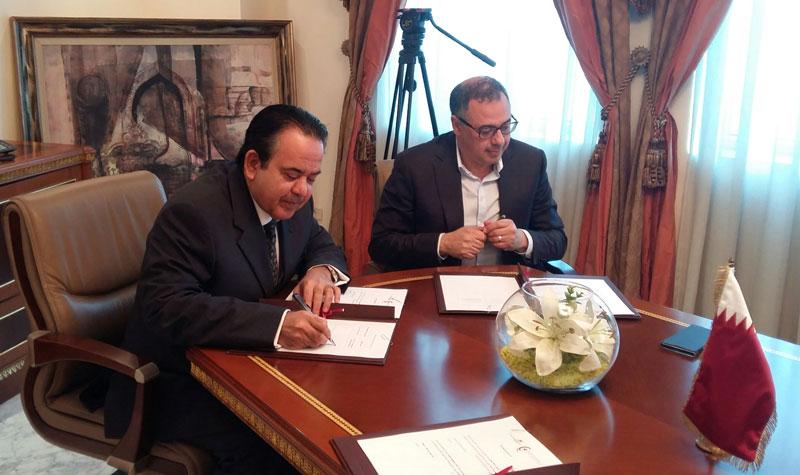 Signature d'un avenant au contrat de partenariat entre le Qatar Fund For Development & Réseau Entreprendre Tunisie