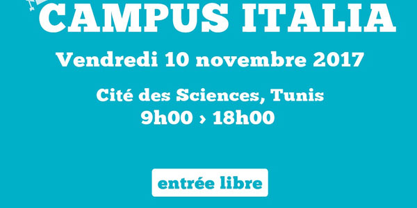 Campus Italie le 10 novembre 2017 à la Cité des Sciences Tunis