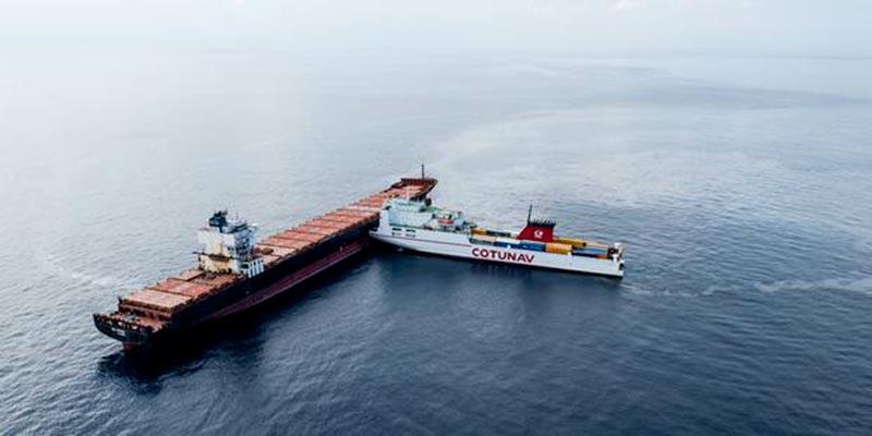 Le cargo chypriote se trouvait sur notre route !