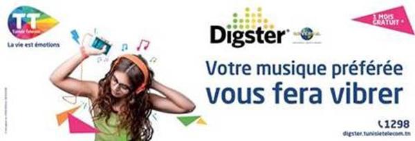 Tunisie Telecom lance l'offre musique la plus généreuse : Digster by TT