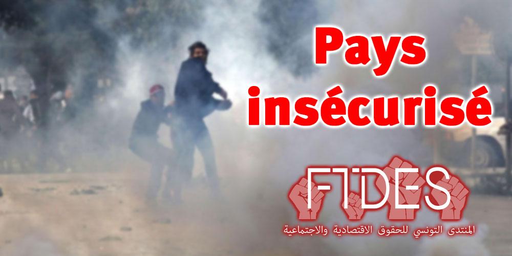 La Tunisie est un pays insécurisé : constat du FTDES