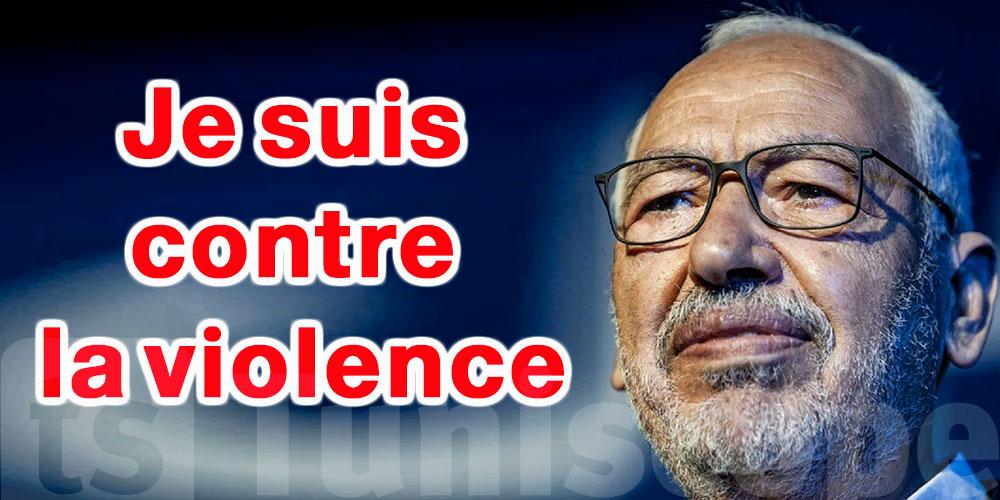 Ghannouchi condamne la violence au parlement