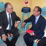 François Hollande en visite au siège d'ETTAKATOL