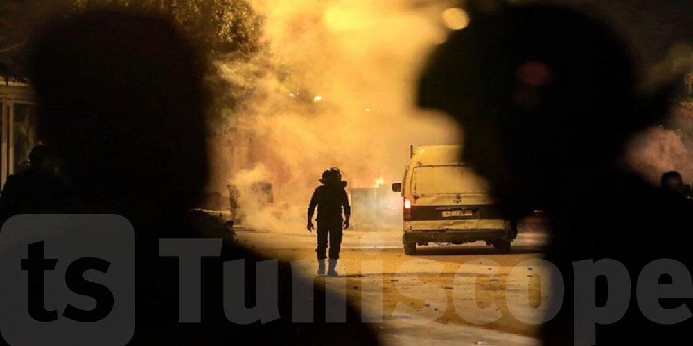 مواجهات بالقيروان: إنقلاب سيّارة أمنية