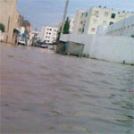 Mjez al Bab ce matin : Pluies, inondations et habitants encerclés par les flots ...