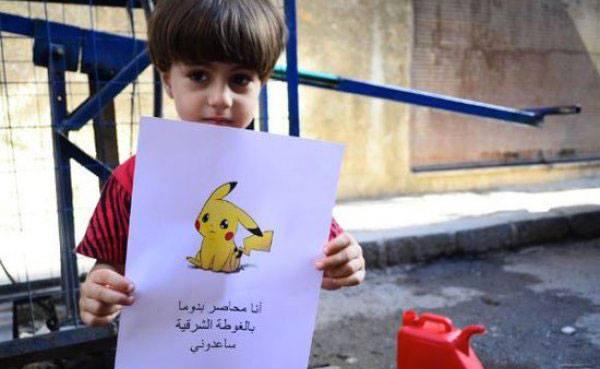 En photos : Des enfants syriens utilisent Pokémon Go pour appeler à l'aide