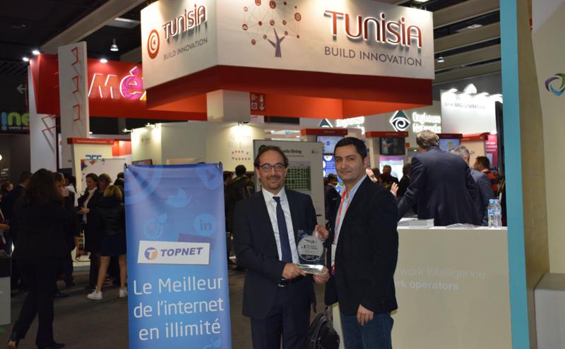 TOPNET obtient l'Award de la meilleure connexion Data fixe en Tunisie pour l'année 2017 lors du Mobile World Congress 2018