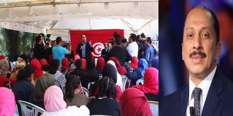 محمد عبّو: ألا يشعر رئيس الحكومة بالذنب عندما يخطب في سيدات جيء بهنّ من مصانعهن لتعبئة اجتماعه وسماعه؟