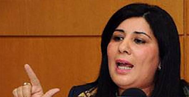 Abir Moussi,  présidente du Mouvement destourien