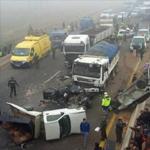 الجزائر: 4قتلى في اصطدام 6 سيارات بشاحنة تحمل مواد كيميائية خطيرة