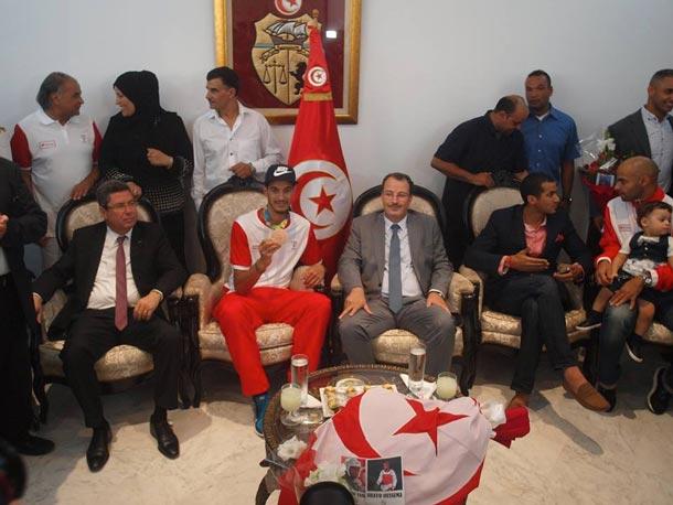 En photos : Cérémonie d'accueil à l'honneur du champion olympique Oussama Oueslati
