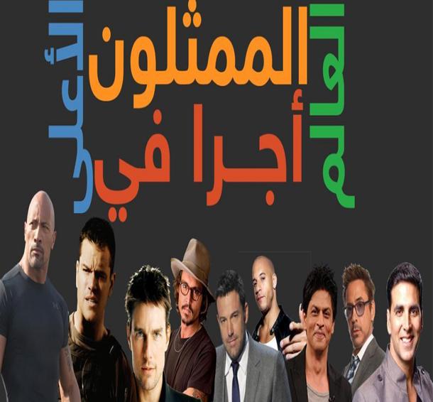 الممثلون الأعلى أجرا في العالم