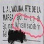 Offre de location d'appartement raciste : Africains s'abstenir