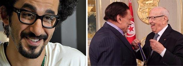 Ahmed Helmy commente la rencontre entre Béji Caïd Essebsi et Adel Imam...