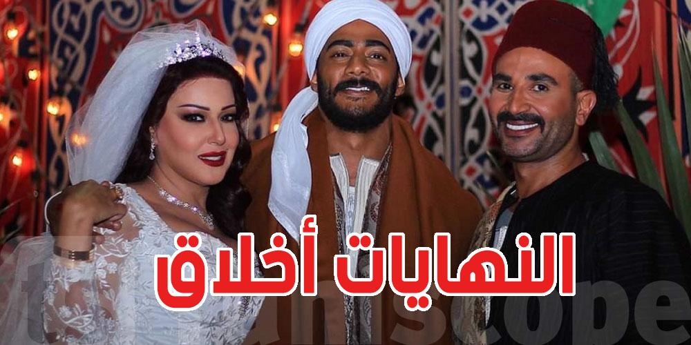 أحمد سعد يغني في زواج طليقته سمية الخشاب بمحمد رمضان