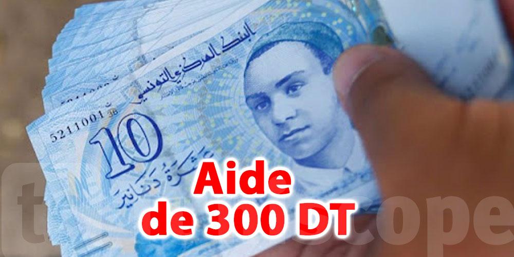 Environ 793 mille familles ont bénéficié de l'aide de 300 DT