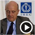 En vidéo : Alain Juppé à l'IHEC parle de la réussite démocratique et de sa vision pour la Tunisie