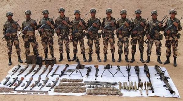 الكشف عن ترسانة أسلحة على الحدود الجزائرية التونسية