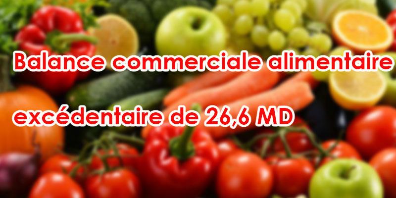 La balance commerciale alimentaire excédentaire de 26,6 MD