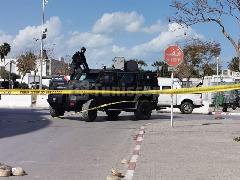 بالصور، حضور أمني مكثف في محيط السفارة الأمريكية