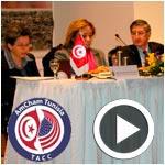 N. Harrouche et J. Walles discutent des opportunités d'investissement USA / Tunisie à l'AmCham