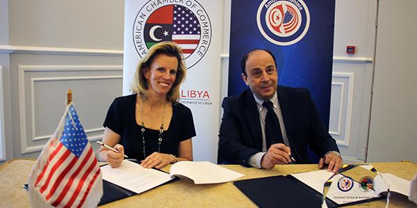En vidéo : Khaled Babbou conclu un accord de partenariat avec AmCham Libya
