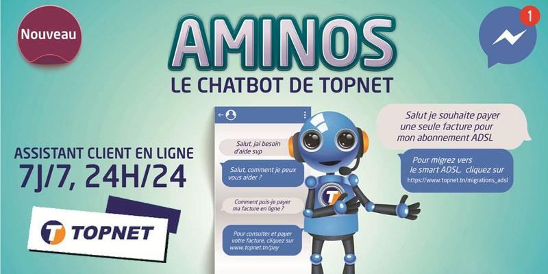 TOPNET lance AMINOS, sa nouvelle plateforme CHATBOT
