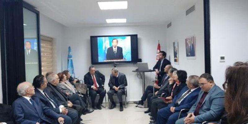 تدشين قاعة باسم الراحل الهادي العنابي بمقر منظمة الامم المتحدة بتونس