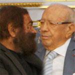 Marek et Clara Halter en vacances en Tunisie, reçus par Béji Caid Essebsi