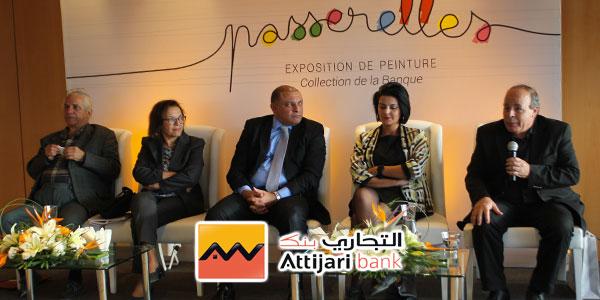 En vidéo : Exposition de peinture ''Passerelles'' au siège d'Attijari bank