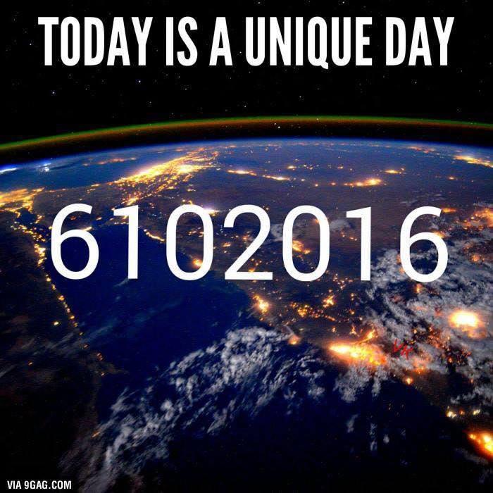 Le 6/10/2016, une date qui se lit de gauche à droite comme de droite à gauche....