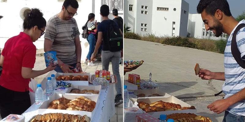 En photos...BAC 2019, le petit-déjeuner distribué gratuitement devant un lycée à Nabeul