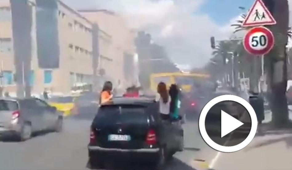 بالفيديو: دخان في شارع محمد الخامس..الأسباب
