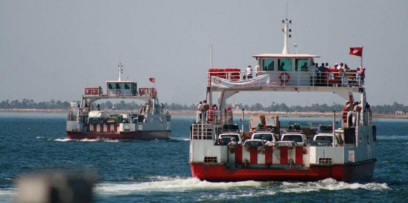 Activité des bacs de Djerba à l'arrêt