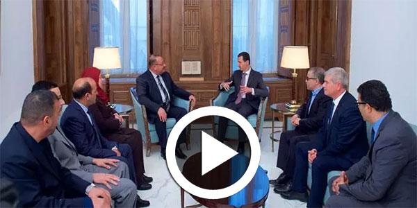 صورة و فيديو اليوم: لقاء بشار الأسد بالوفد البرلماني التونسي