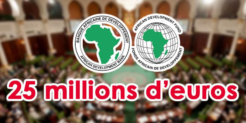 Un prêt de 25 millions d'euros accordé par la BAD