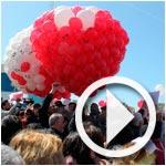 En vidéo et photos : Opération Ballons de la liberté pour Belaïd