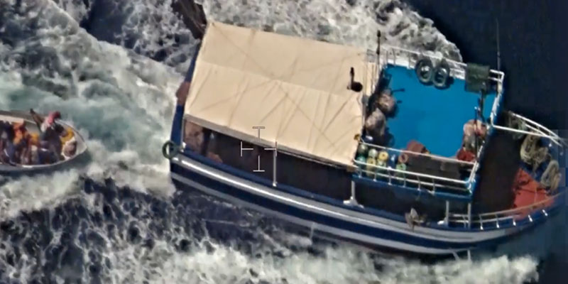 En vidéo : Frontex diffuse une vidéo du bateau de pêche tunisien intercepté en Italie