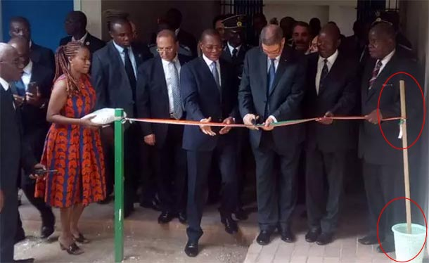 En photo: Une touche spéciale pour le bureau d'accueil des entreprises tunisiennes à Abidjan