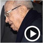 En vidéo : Entouré d'une centaine de journalistes, Béji Caïd Essebsi vote