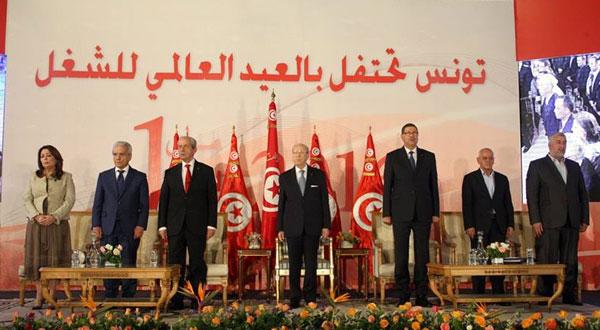 رئيس الجمهورية يشرف على احتفالات العيد العالمي للشغل