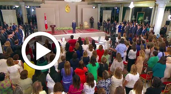 بالفيديو..خطاب رئيس الجمهورية بمناسبة الاحتفال بعيد المرأة