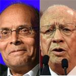 Le Point titre : Tunisie - Présidentielle : Marzouki-Essebsi, chacun s'annonce premier