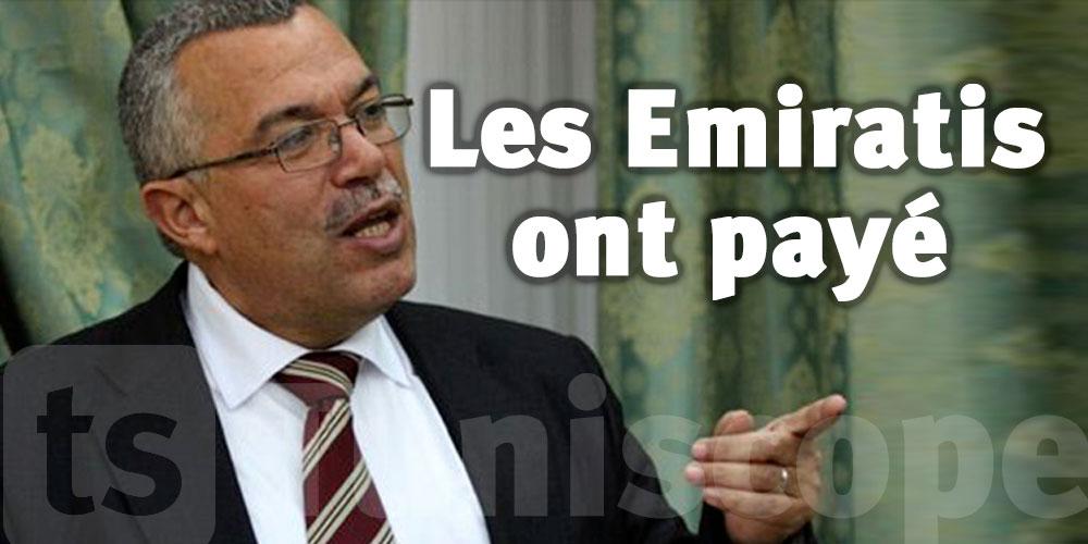 Bhiri : On veut retirer la confiance à Ghannouchi à coups de pots-de-vin