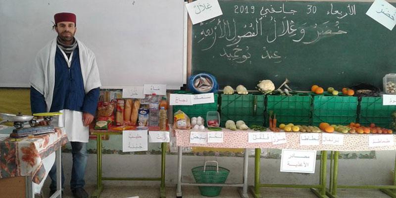 صور من مدرسة ماطر: معلم يتحوّل إلى ''خضّار'' من أجل التلاميذ